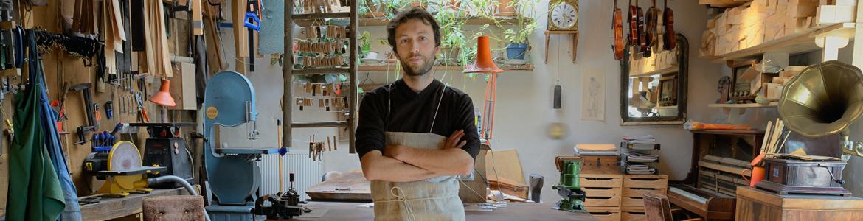 Yann Besson in his workshop
